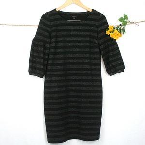 Talbots Knit Stripe Sheath Dress
